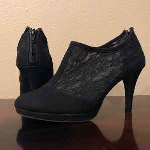 Black Tyrese Pump Lacy Heels 8.5 M